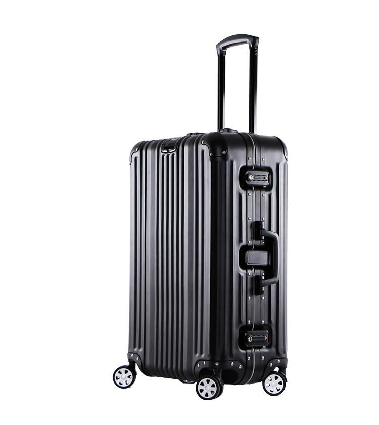 Business Luggage 25 Inch Hi-Tech Aluminum Carry-On Spinner Upright ...