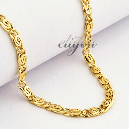 2017 4mm New Fashion Jewelry Mens Womens Snail Link Chain
