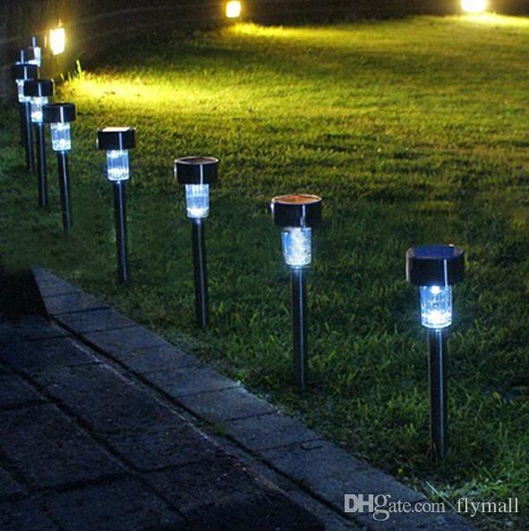 Venta al por mayor led luces solares luz solar del c sped de pl stico de jard n al aire libre - Luces de jardin solares ...