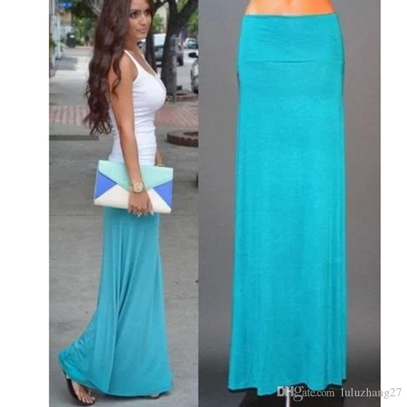 2017 Women High Waist Skirts Maxi Skirt High Quality Sexy Package ...