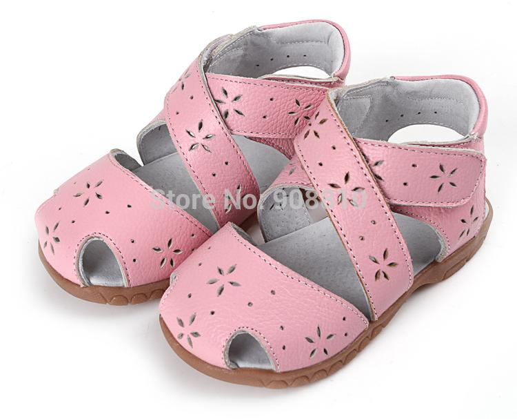Sandq Baby Girls Sandals Genuine Leather Soft Toddler Shoes Pink ...