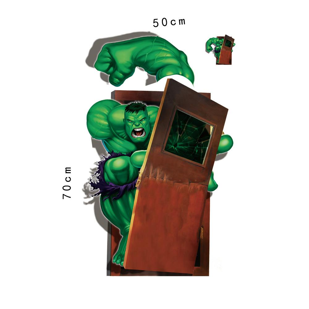 3d Wall Art The Cartoon Hulk Wall Art Stickers The Avengers Alliance 3d Wall