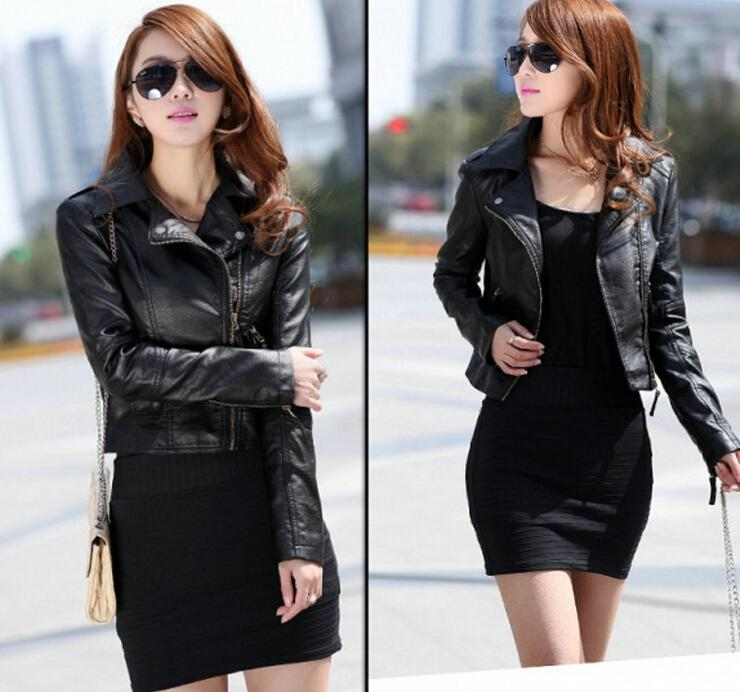 New Autumn Woman Plus Size Leather Jacket Coat 2015 Women's ...