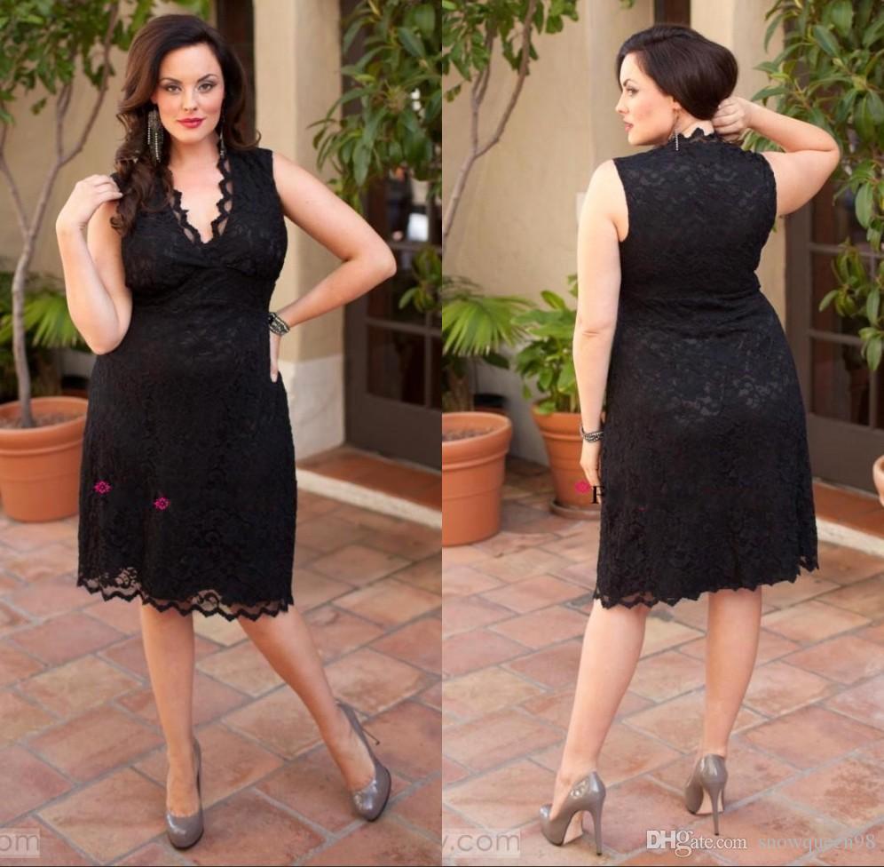 Vintage Black Lace Plus Size Special Occasion Dresses Sexy ...