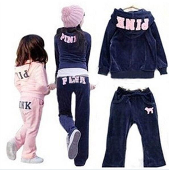 Online Cheap Fasion Children Clothing Set Pink Brand Clothing ...