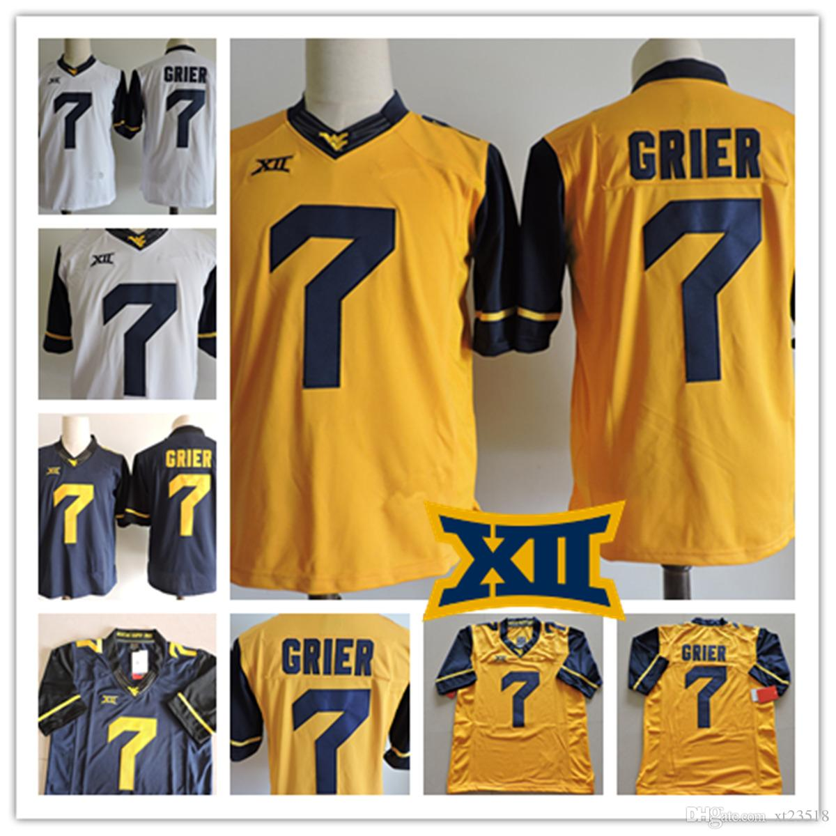 ... blue stitched ncaa jersey cf1c8 54e03  czech gold mens west virginia  mountaineers will grier college football jerseys stithced 7 will grier ncaa 063c8cd3c