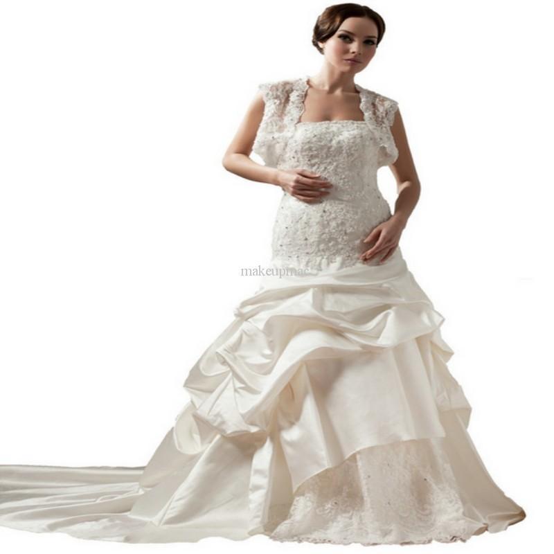 Wedding Dresses Size 30 : White women plus size muslim wedding dresses