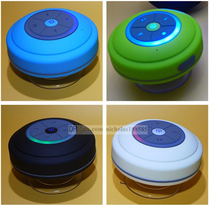 new model bts06 q9 portable waterproof wireless bluetooth speaker shower car handsfree receive call u0026 music suction phone mic promotion waterproof speaker