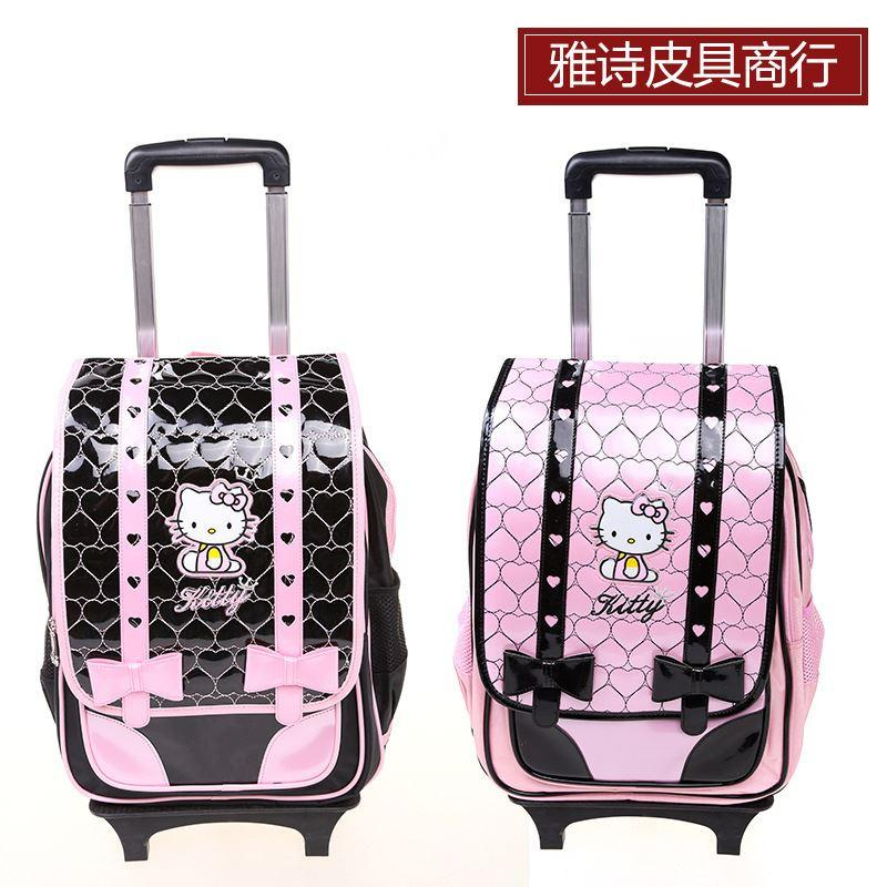 2017 2015 Hello Kitty Cute Luggage Kids Wheel Aircraft Trolley ...