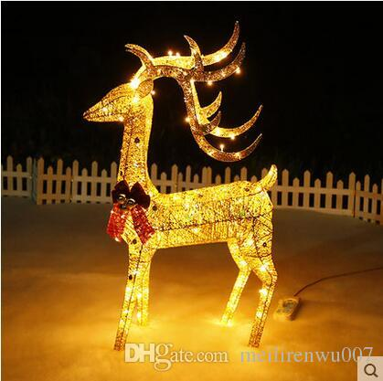 animated 12m lighted reindeer deer family christmas yard decoration lights new online with 15301piece on meilirenwu007s store dhgatecom - Lighted Christmas Yard Decorations