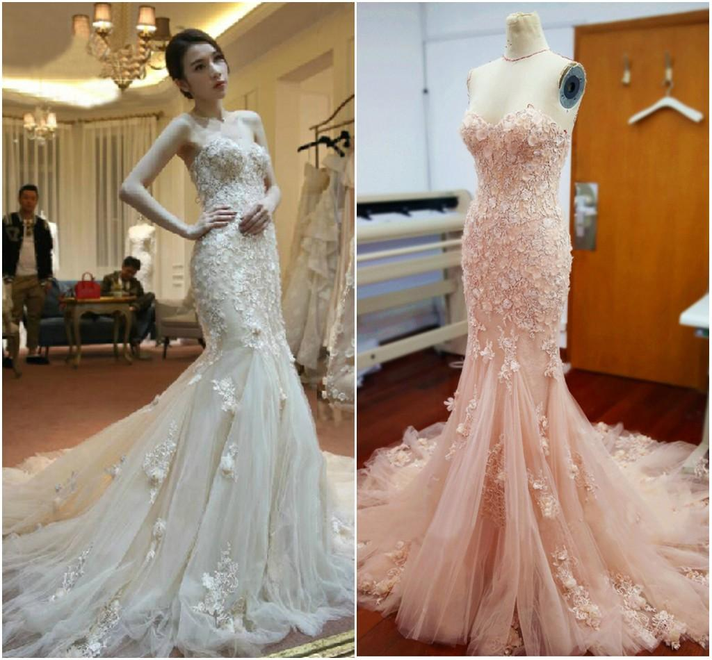 Spring Summer Wedding Dress Mermaid Sweetheart with