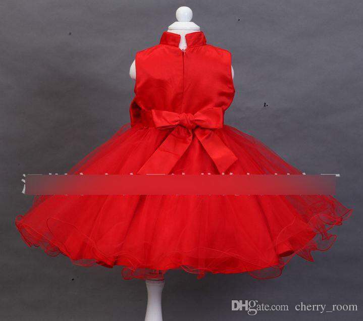 ems nwt rojo estilo chino cheongsam vestido nias encaje gasa hilado neto bordado arco nios fiesta