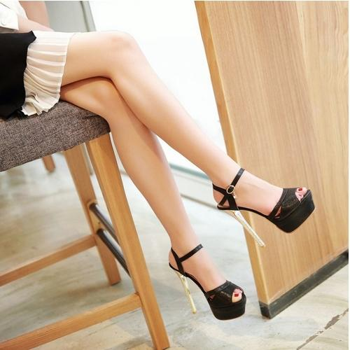 European Style Ultra Thin High Heels 15cm Fashion Platform ...