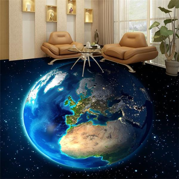2018 earth 3d space living room floor tiles painted 2015 for Living room 3d tiles