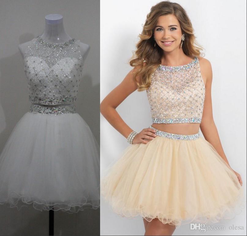 champanine colored short prom dresses_Prom Dresses_dressesss