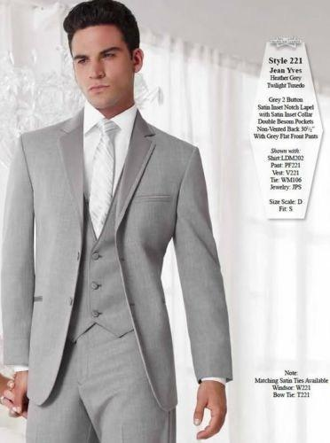 Fashion Grey Mens Suits Tuxedos for Men Notched Lapel Mens Wedding