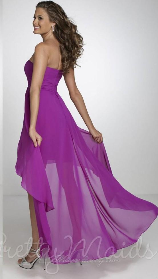 2015 high low purple bridesmaid dresses chiffon maternity for High low wedding guest dresses