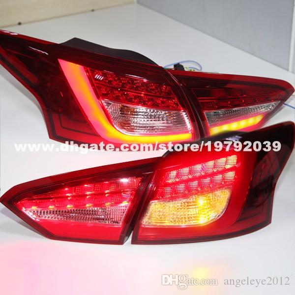 ford focus 3 sedan led tail lights rear lamps 2012 2014 year red color ld - Ford Focus 2014 Sedan Red