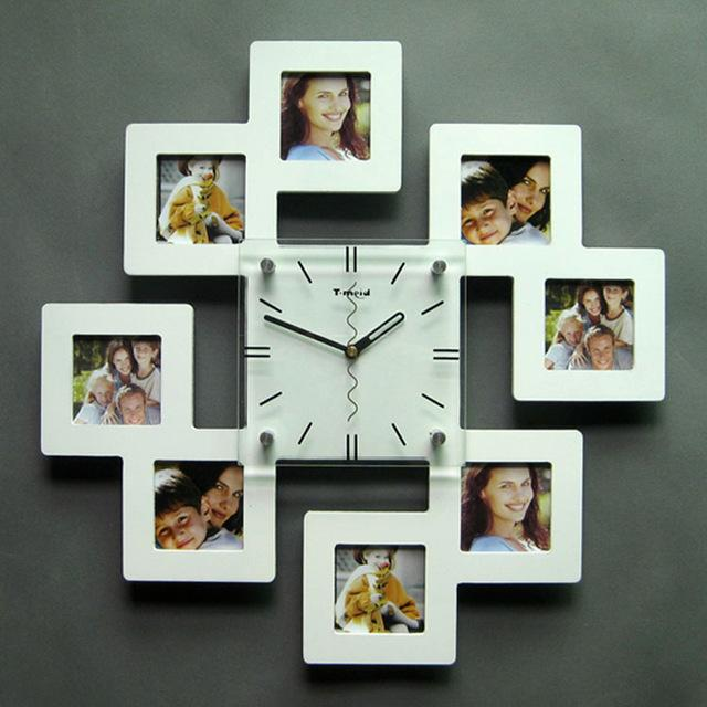 Wall Clock Using Picture Frames - Home Design Ideas - http://www ...
