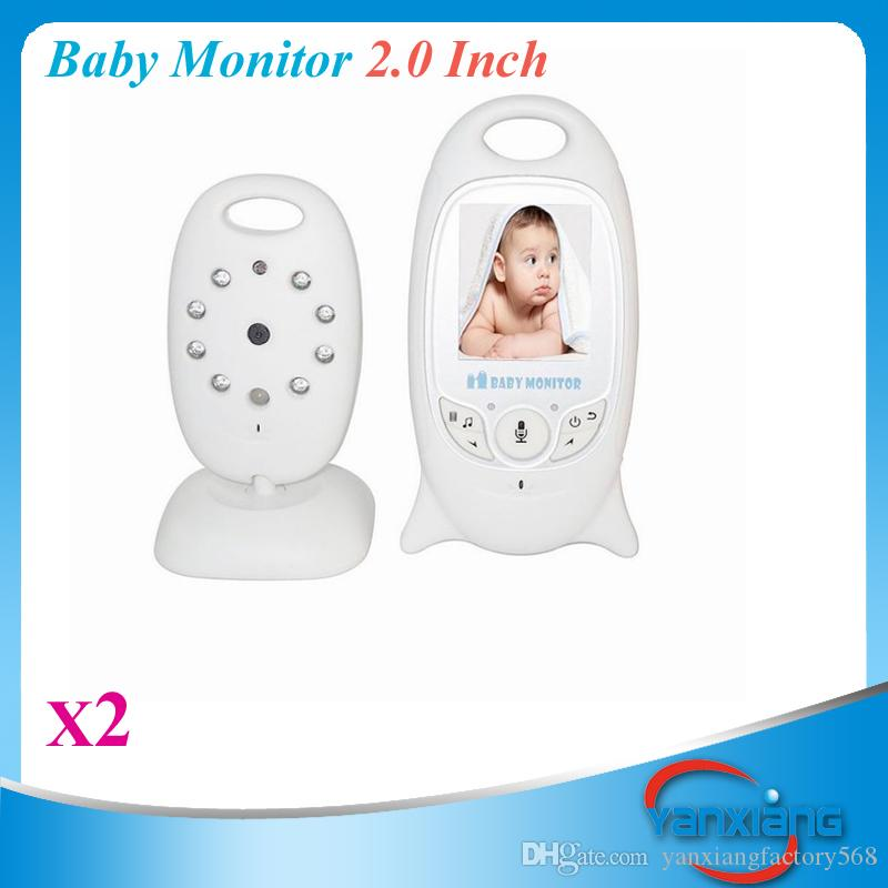 video baby monitor 2 0 inch color lcd with wireless security camera 2 way audio night vision. Black Bedroom Furniture Sets. Home Design Ideas