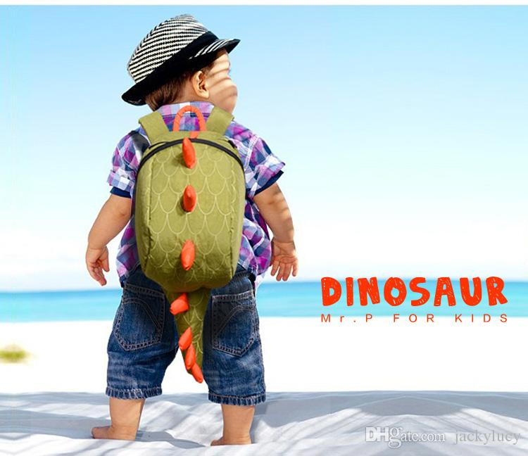Cute Children Little Dinosaur Backpack Kids Double Shoulder Bags ...