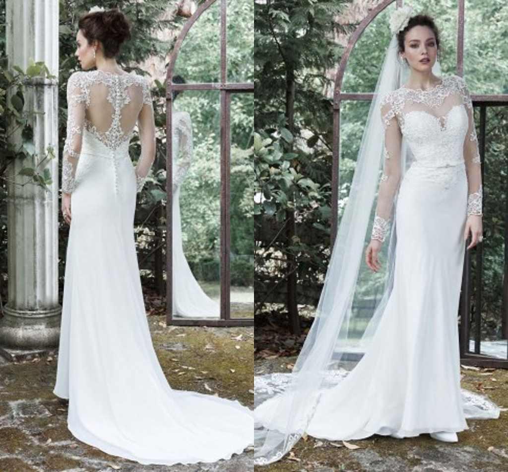 Zuhair Murad Wedding Dresses Long Sleeves Appliques Lace