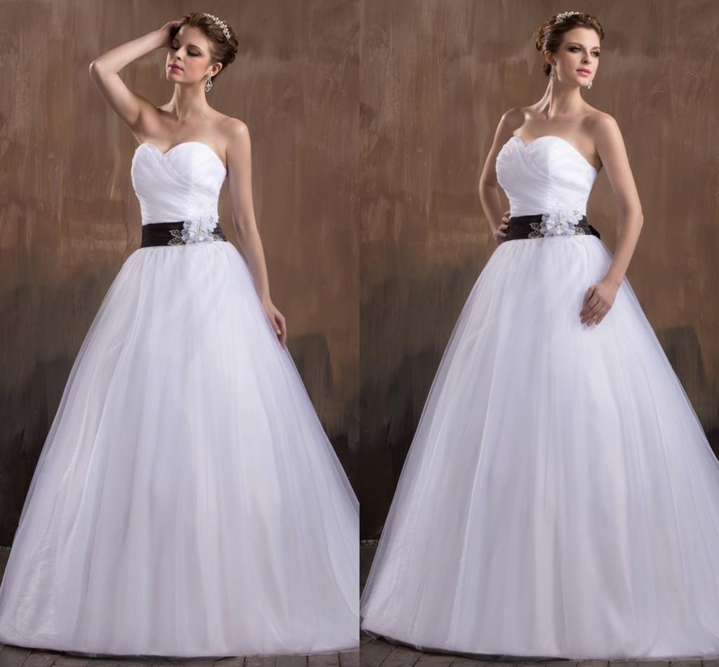 Black And White Simple A Line Ball Gown Princess Pleated