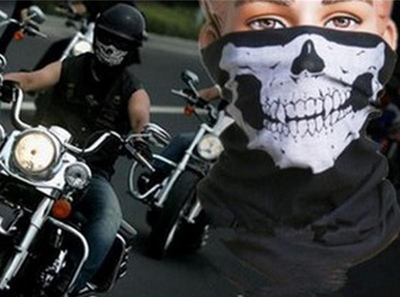 Skull Multi Bandana Bike Casque de moto Masque de cou Masque Paintball Sport de