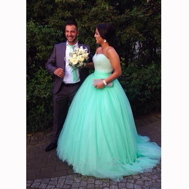 Long Puffy Mint Green Sweetheart Ball Gown Beaded Gothic Victorian ...