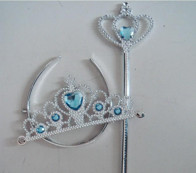 Discount frozen crown and wand ornament anna elsa cosplay for Anna wand