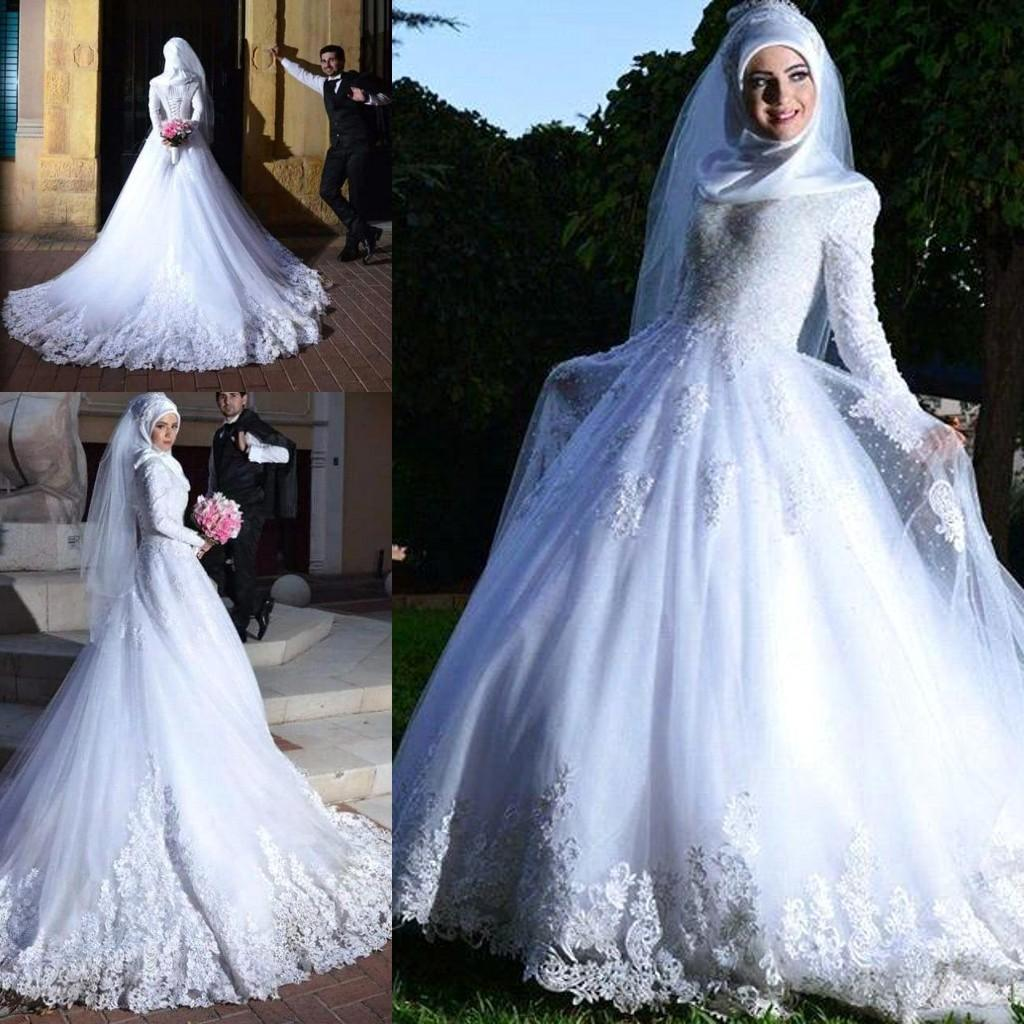 Pink Wedding Dress Hijab Dresses With Mini Color Cheap Petticoat Gowns