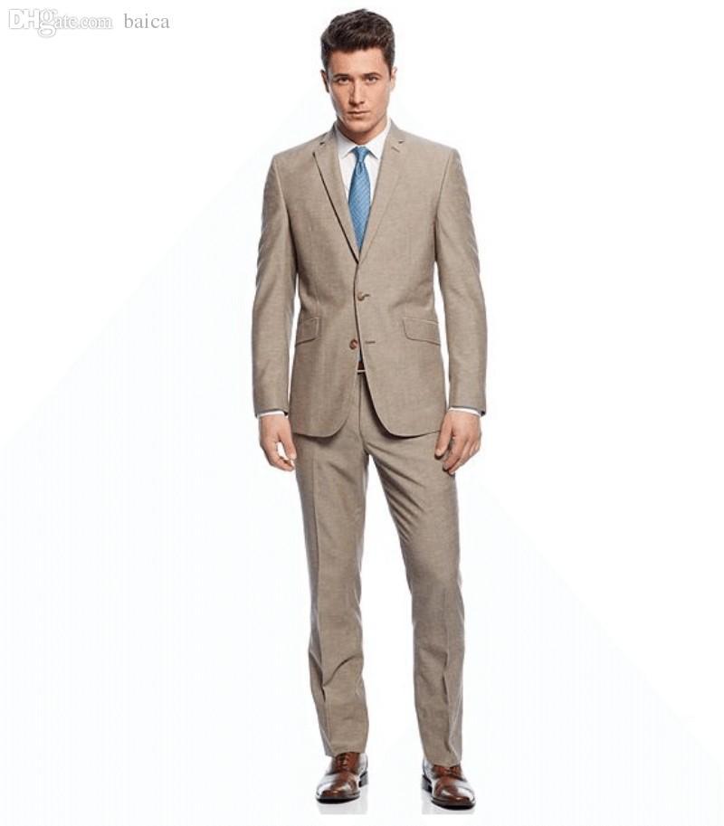 Discount Tan Grooms Suit | 2017 Tan Grooms Suit on Sale at DHgate.com