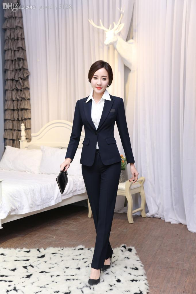 Online Cheap Wholesale S Xxxl 2015 Women Business Suits Formal ...