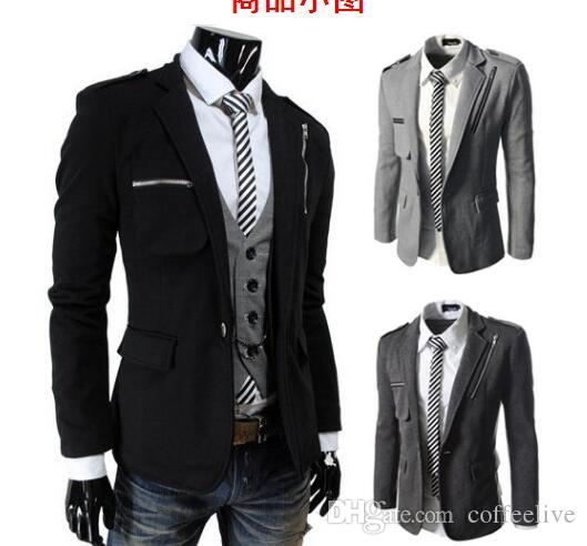 2016 New Arrive Men's Suit Mode Coton Hommes Blazers Lapel Hot Jacket Suit Vêtem