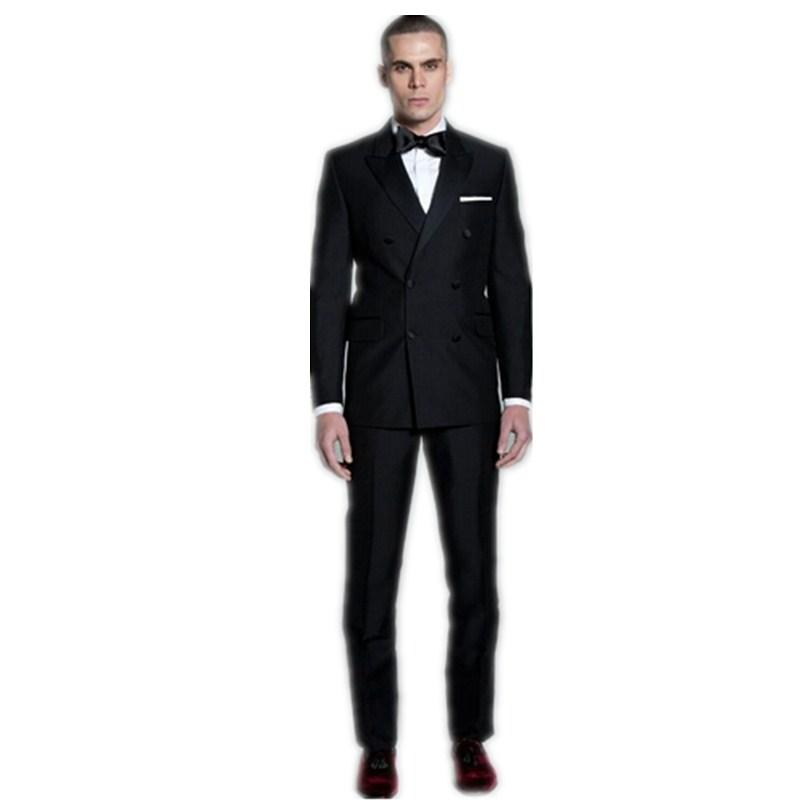High End Men'S Suit Groom Tuxedo Double Breasted Formal Bussiness ...