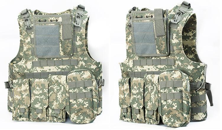 Professional sales USMC Airsoft Tactical Military Molle Combat Assault Plate Carrier Vest Tactical vest 7 Colors CS clothing