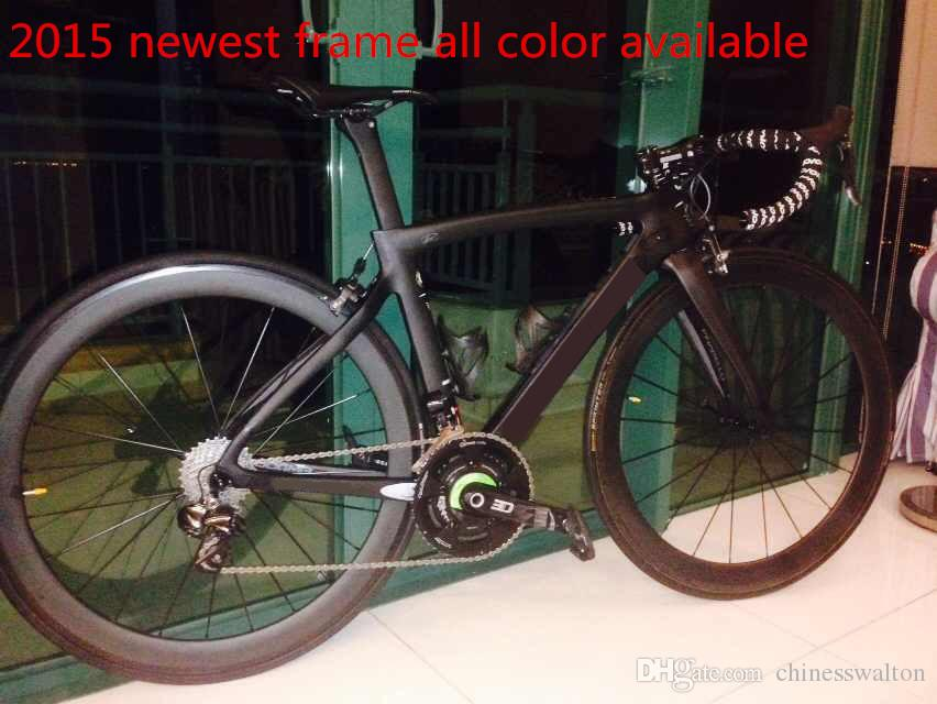 Taiwan repeat 2015 newest T1000 3K carbon frame full carbon fiber road complete bike bicycle 958 950 frame carbon wheels handlebar saddle