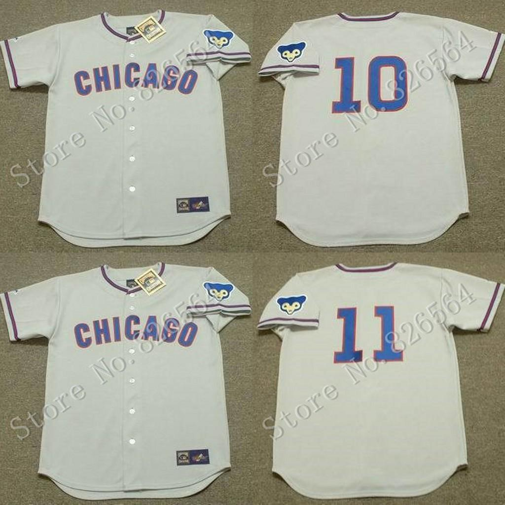 grey throwback mlb jersey cheap chicago cubs 10 ron santo 11 don kessinger jersey 1968 home throwback baseball jersey stitched
