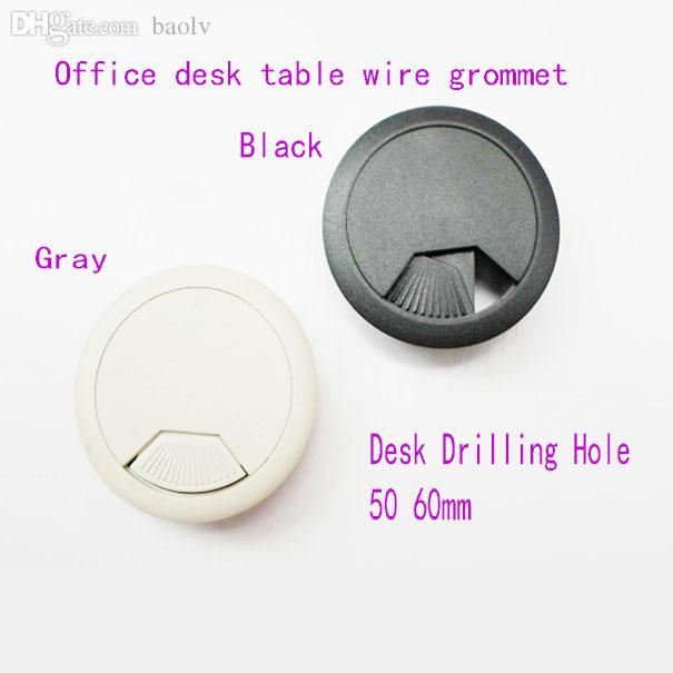 2017 wholesale 50mm computer table cable plastic grommet for 2 furniture hole cover