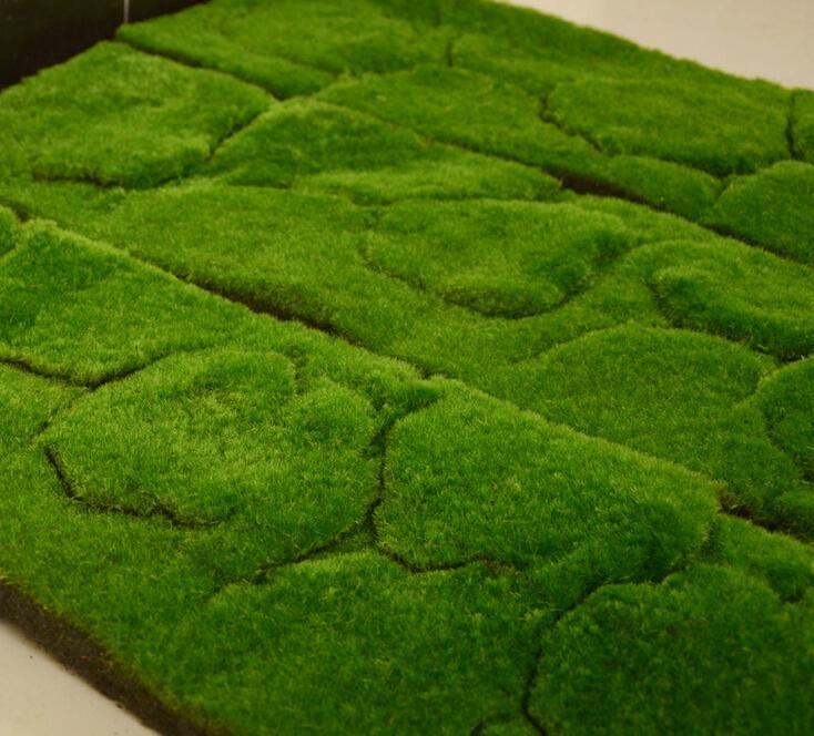 Artificial Grass Moss Lawn Plant Wall Dress Turf Sod Meadow Home