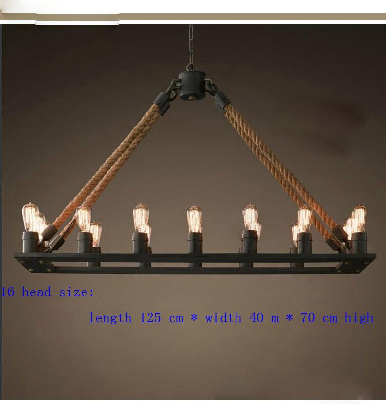 Rope Lights Kitchen: Pendant Lamp Europe Retro Rope Chandelier Nordic Rh Loft