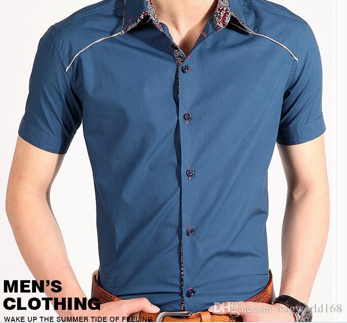 2017 new koren italian dress shirts men 39 s blouses fashion for Italian style dress shirts