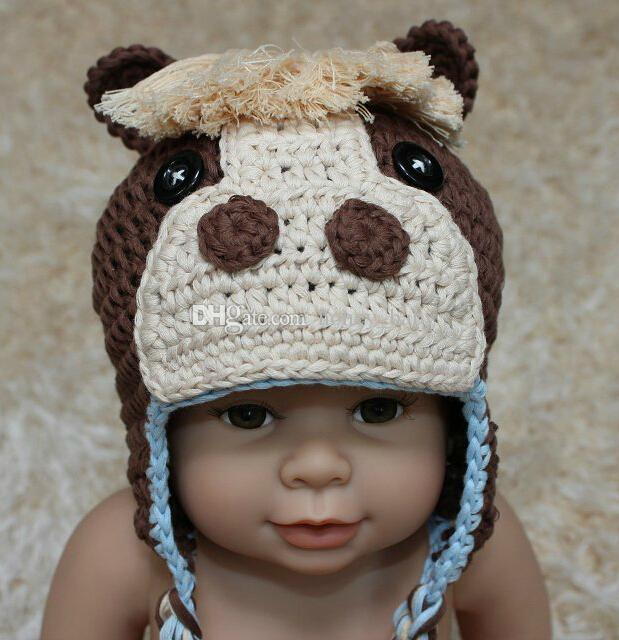 Crochet Patterns For Childrens Animal Hats : Crochet Horse Pattern Knitted Hat Baby Boys Girls Cartoon ...