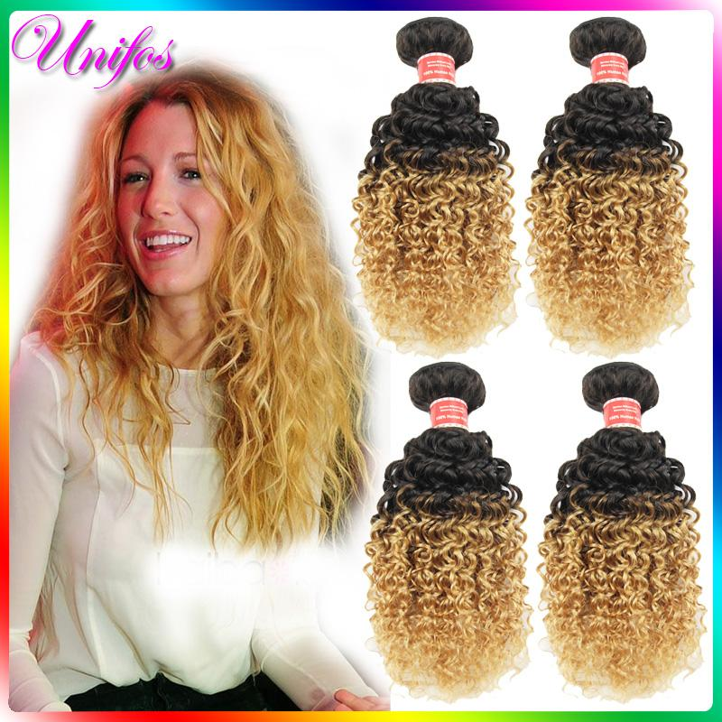 Blonde Ombre Human Hair Weave 80