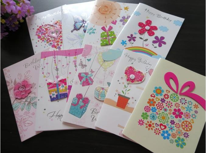 stock creative handmade greeting cards birthday gift cards, Birthday card