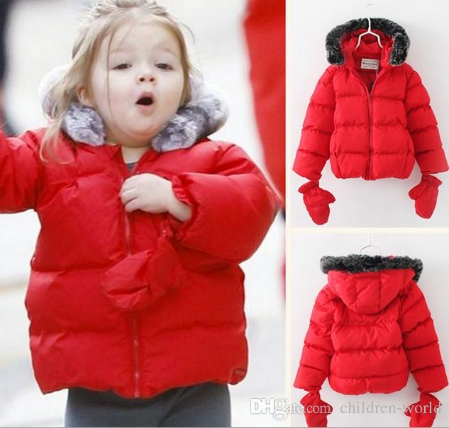 Xmas Christmas Hot Sale Kids Winter Red Coats Children's Girl's