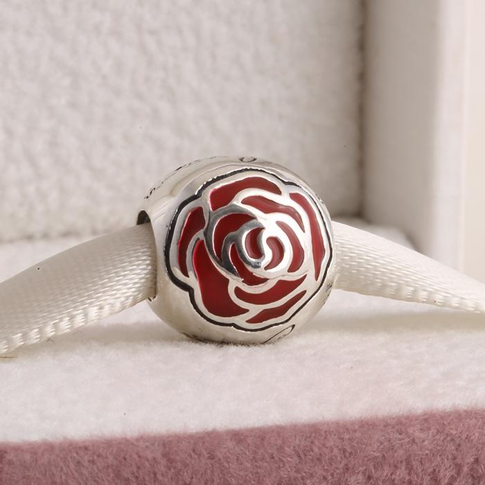 Online Cheap Pandora Belle Enchanted Rose Silver Charm 925