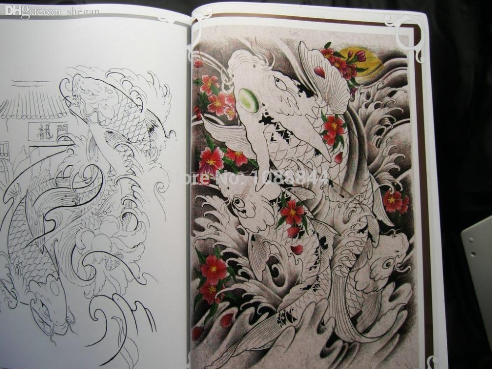 Wholesale wholesale koi carp fish tattoo flash outline new for Bulk koi fish for sale