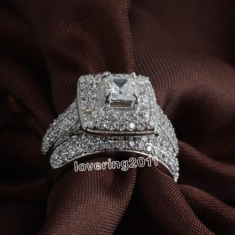 001 Victoria Wieck Lovers Pave Set Topaz 14kt White Gold Filled 2 ...