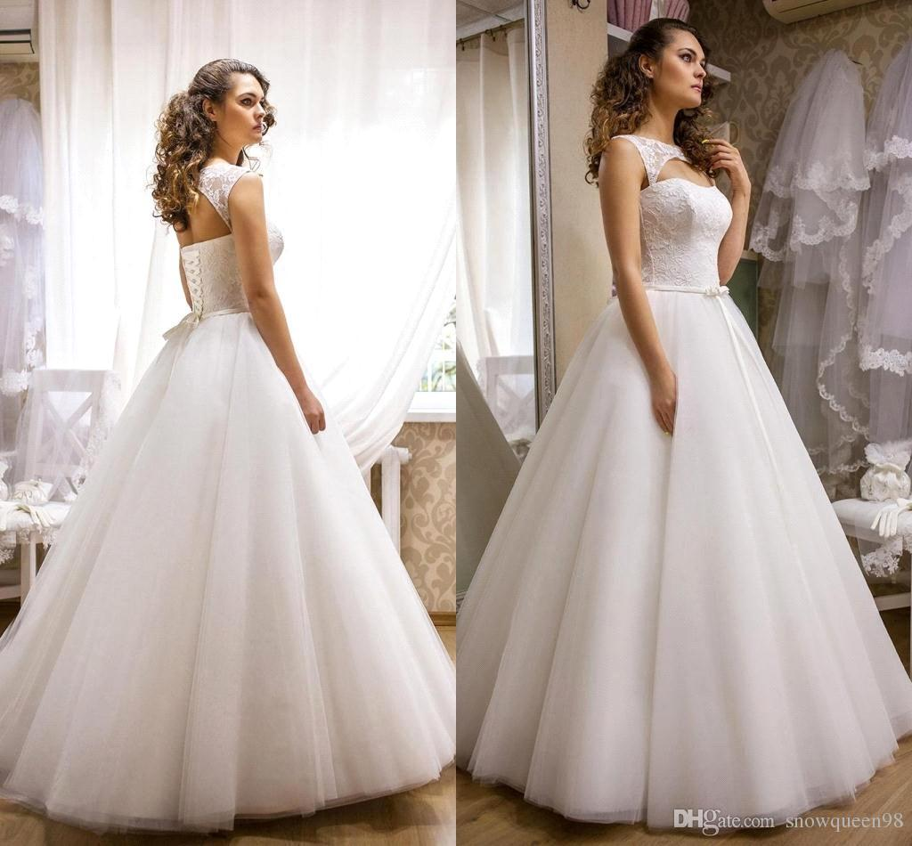 2016 Strapless Ball Gown Wedding Dresses Tulle Hollow y